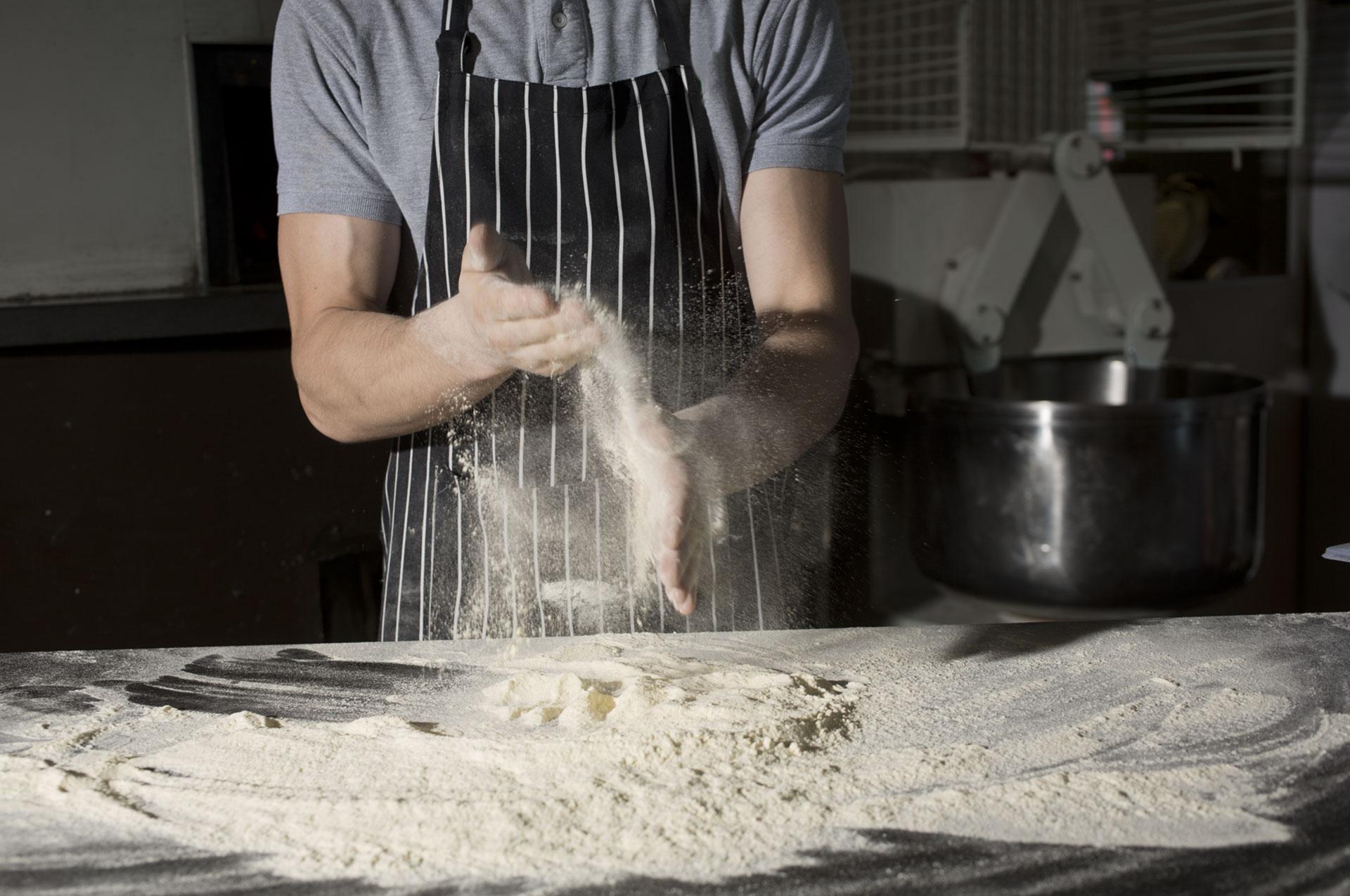 Preparazione impasto Pizza 480 Grad