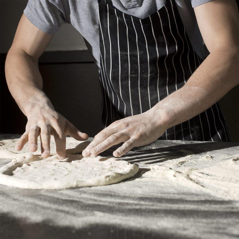 Pizza in produzione